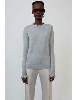 Crewneck Sweater Light Grey Melange by Acne Studios