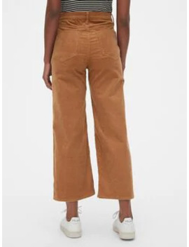 High Rise Wide Leg Ankle Cords by Gap
