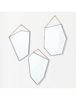 Szklo Glass Geo Rock Mirrors by West Elm