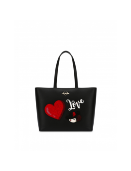 Shopper With Heart And Charming Doll by Moschino