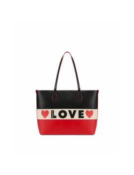 Tricolor Shopper Share The Love by Moschino
