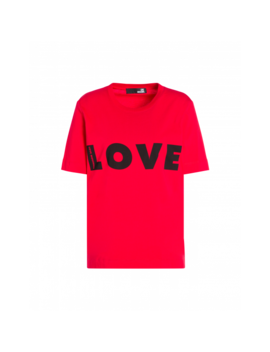 Jersey T Shirt With Logo by Moschino