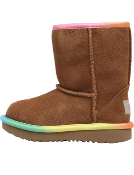 Ugg Toddler Girls Classic Short Ii Rainbow Boots Chestnut by Ugg