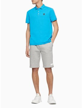 Regular Fit Logo Band Stripe Polo Shirt by Calvin Klein