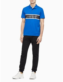 Regular Fit Colorblock Stripe Polo Shirt by Calvin Klein