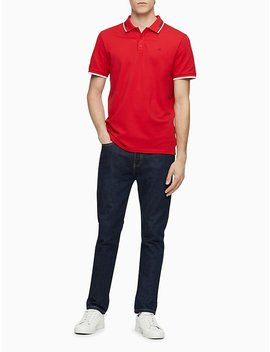 Regular Fit Tipped Athleisure Polo Shirt by Calvin Klein