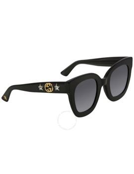 Grey Square Sunglasses Gg0208 S 001 49 by Gucci