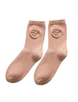 Heart Cutout Socks by Boogzel Apparel