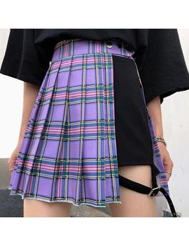 Teen Angst Plaid Skirt by Boogzel Apparel