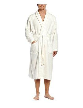 Ivory Fleece Robe   Men by Leveret