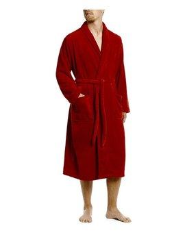 Red Fleece Robe   Men by Leveret