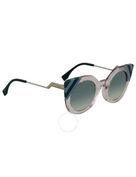 Waves Light Green Gradient Cat Eye Ladies Sunglasses Ff 0240/S 35 J/9 K 47 by Fendi