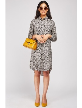 Flower Printed Shirt Dress by Everything5 Pounds