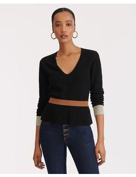 Dolores V Neck Sweater by Veronica Beard