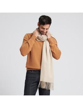 Cashmere Solid Scarf Oatmeal by Naadam