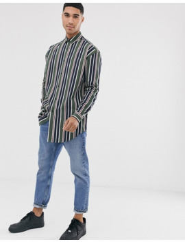 asos-design-oversized-stripe-shirt-in-longline by asos-design