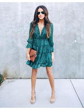 backwoods-printed-tiered-ruffle-dress by vici