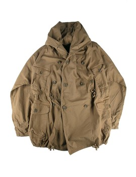 Rip Stop Army Ringcoat    Brown by Kapital