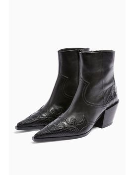 missouri-leather-western-boots by topshop