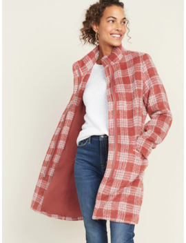 oversized-funnel-neck-plaid-coat-for-women by old-navy