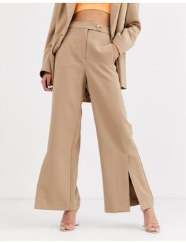 asos-white-twill-tailored-split-front-trouser by asos-white