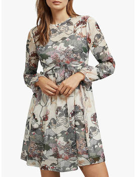 ted-baker-remorra-ruffle-long-sleeve-dress,-natural-ivory by ted-baker