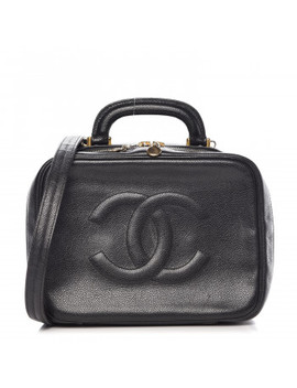 chanel-caviar-cc-vanity-cosmetic-case-black by chanel