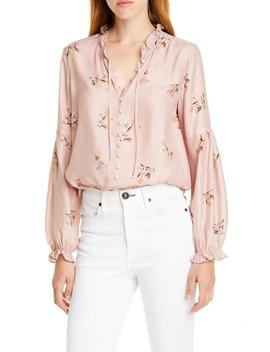 sierra-floral-silk-poet-blouse by dolan