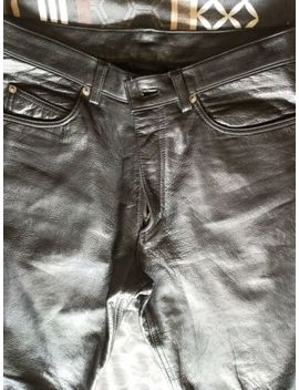 black-genuine-real-leather-trousers-(men) by ebay-seller