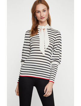 Collared Bow Sweater by Bcbgmaxazria