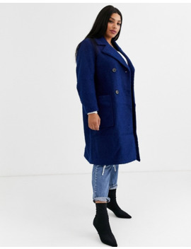 simply-be-double-breasted-teddy-coat-in-navy by simply-be