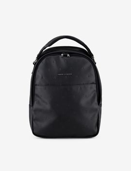 Debossed Logo Backpack by Armani Exchange
