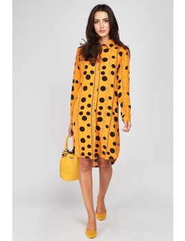 Polka Dot Chain Print Shirt Dress by Everything5 Pounds