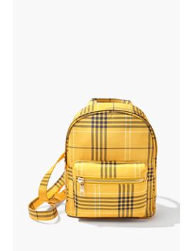 plaid-print-mini-backpack by forever-21
