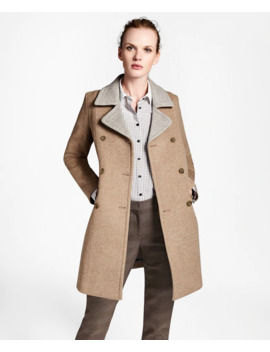 Wool Pea Coat by Brooks Brothers