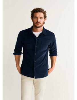 regular-fit-pocket-corduroy-shirt by mango