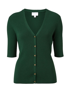 Button Front Rib Cardigan by Witchery