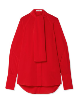 pussy-bow-silk-crepe-de-chine-blouse by victoria-beckham