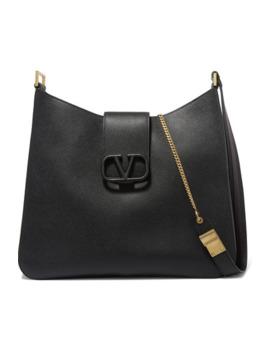 valentino-garavani-vsling-textured-leather-shoulder-bag by valentino