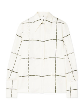 checked-silk-twill-shirt by victoria-beckham
