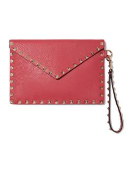 valentino-garavani-rockstud-textured-leather-pouch by valentino