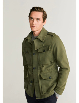 cotton-safari-style-jacket by mango