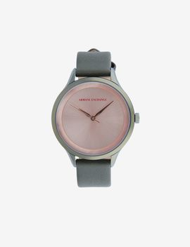 Women Quartz/3 Hands Leather Watch by Armani Exchange