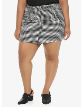 houndstooth-zipper-skirt-plus-size by hot-topic