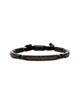 braided-leather-stainless-steel-adjustable-bracelet by reinforcements