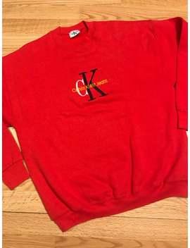 vintage-bootleg-calvin-klein-jeans-sweatshirt-size-xl by etsy