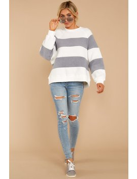 one-more-thing-grey-and-white-stripe-pullover by storia