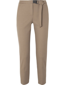 belted-cropped-cotton-blend-gabardine-slim-fit-pants by brunello-cucinelli