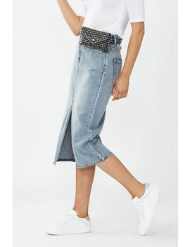 Blaire Denim Midi Skirt by Decjuba