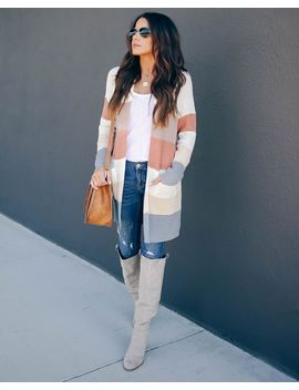 pumpkin-to-talk-about-colorblock-pocketed-cardigan by vici
